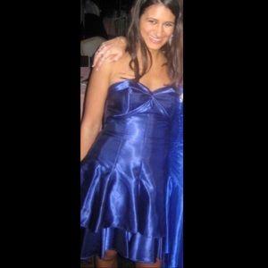 Jessica McClintock Royal Blue Satin Formal Dress 3